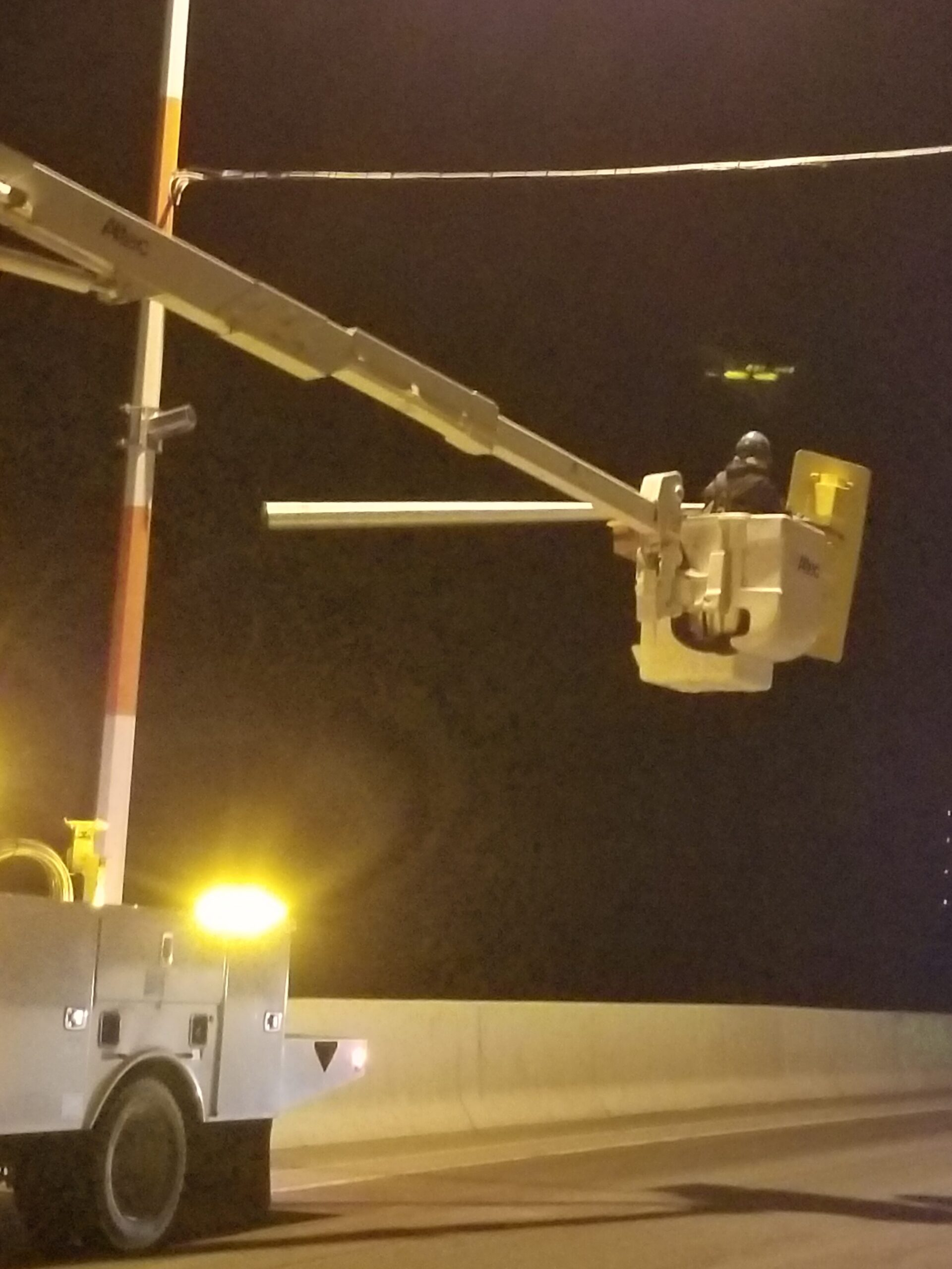 Lowering the removed traffic signal