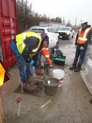 Concrete testing before placement