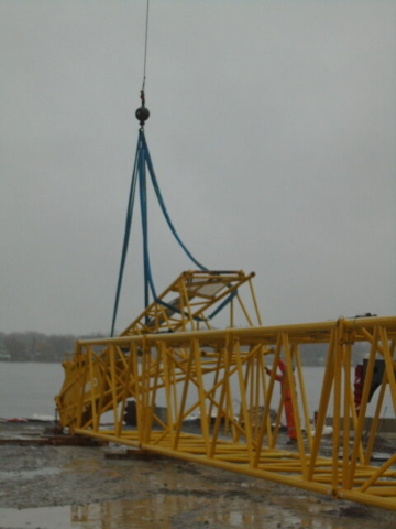 Removing a section of boom