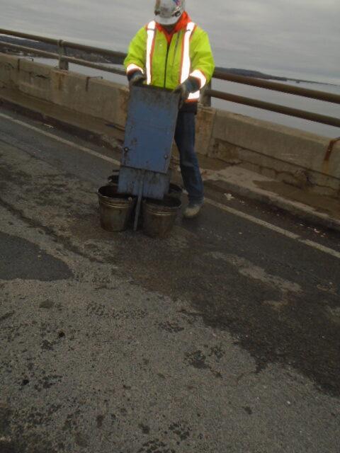 Splitter box used for asphalt testing
