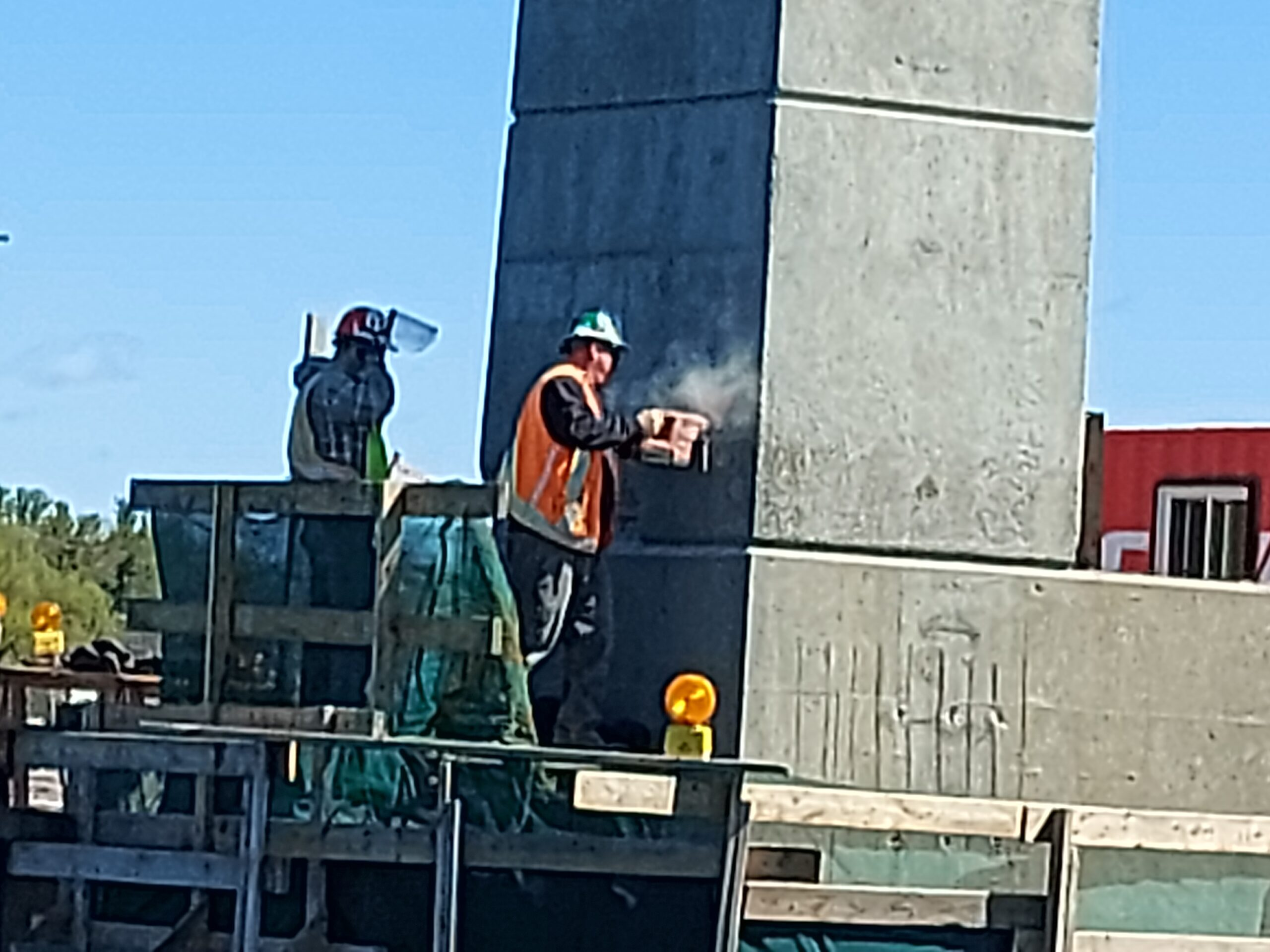 Concrete chipping on pier 6