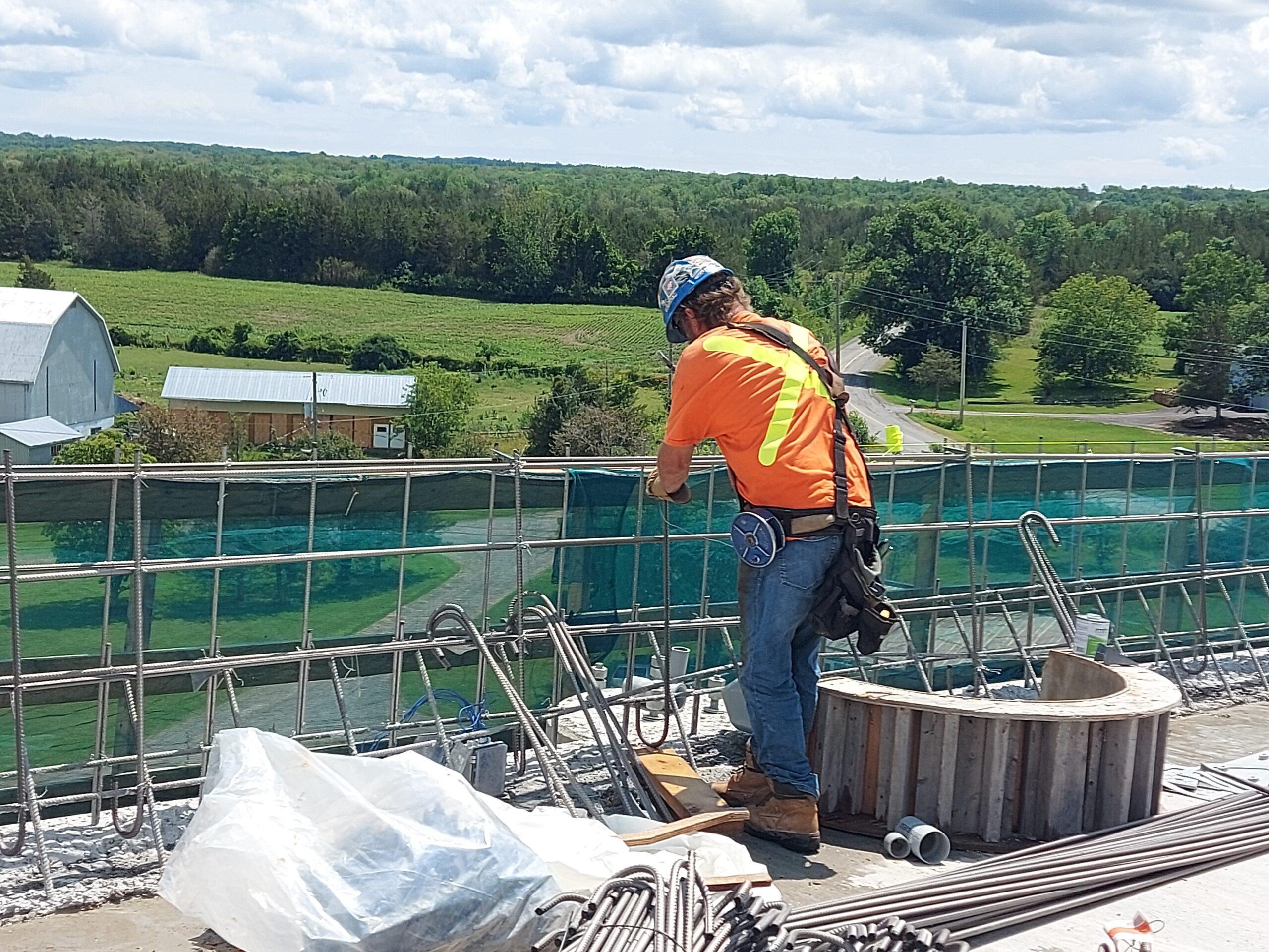 Installation of barrier wall rebar