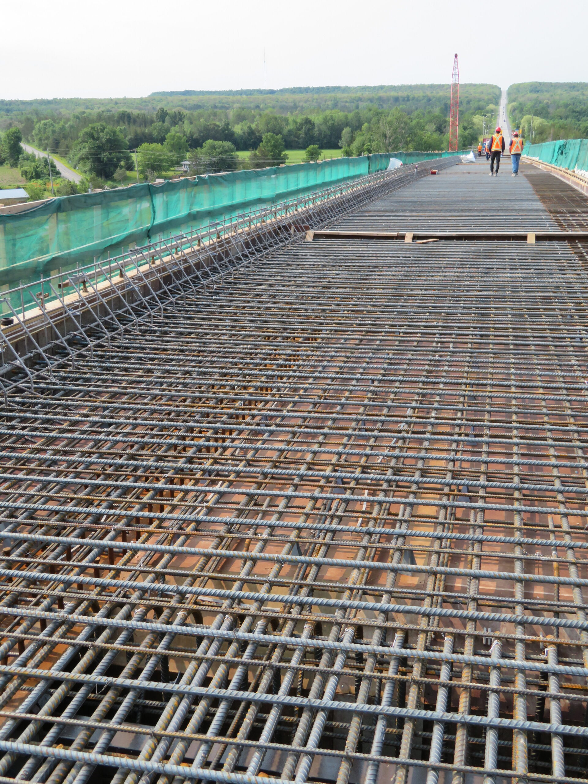 Completed rebar and formwork