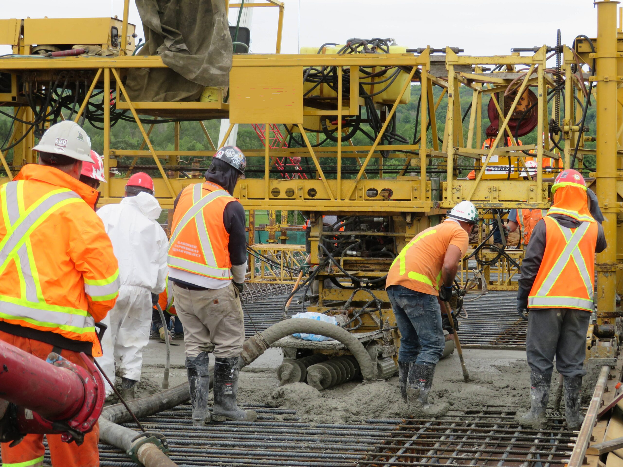 Pumping concrete into the formwork