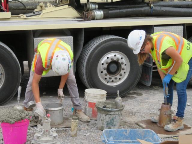 Concrete testing, prior to concrete placement