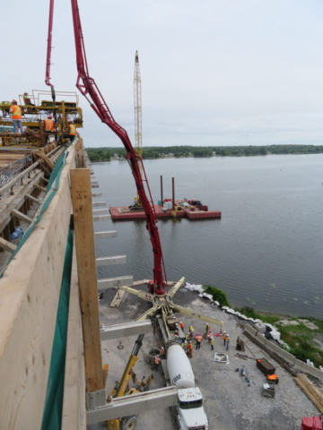 Overview of the concrete placement