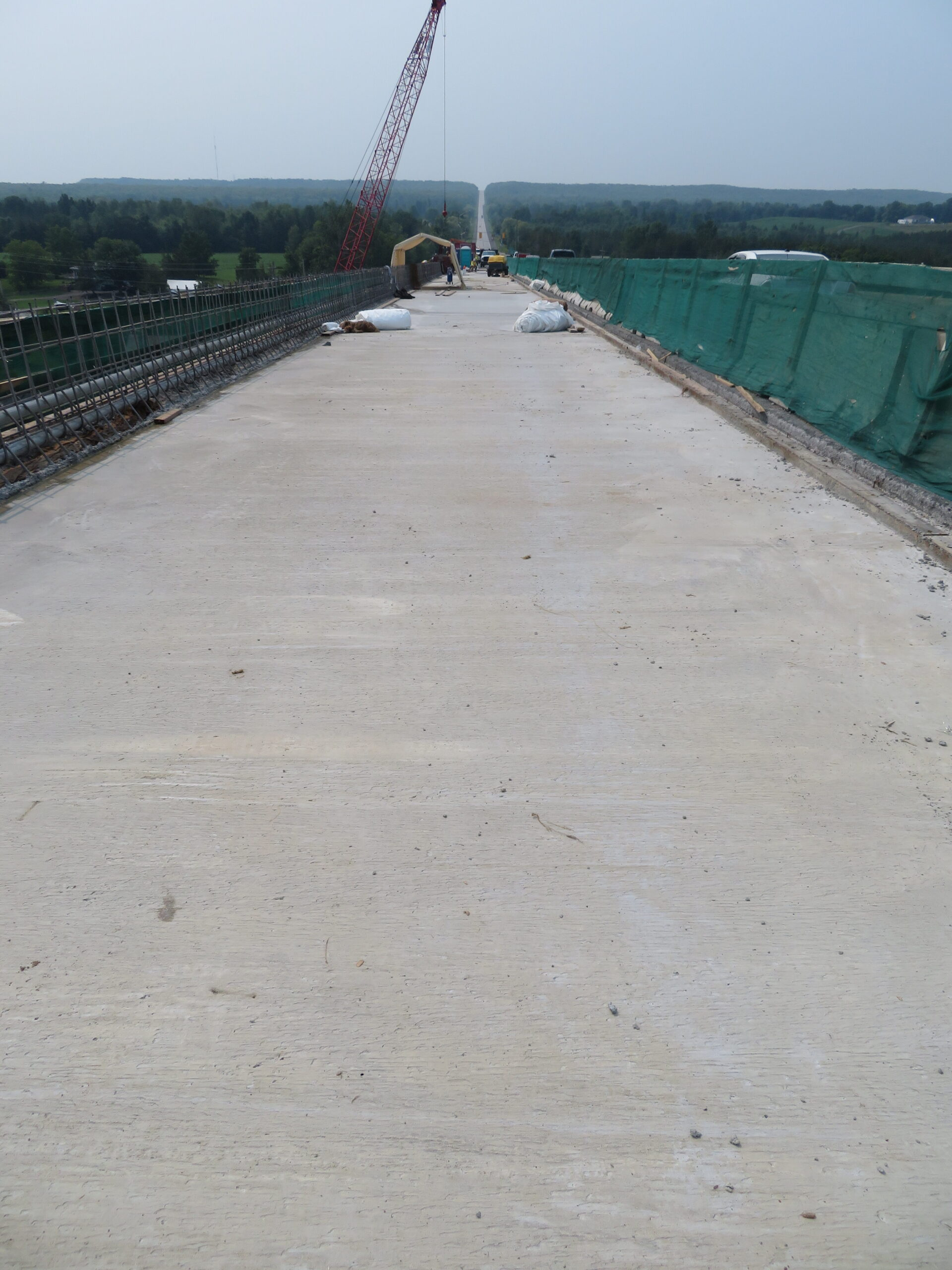 Completed concrete deck