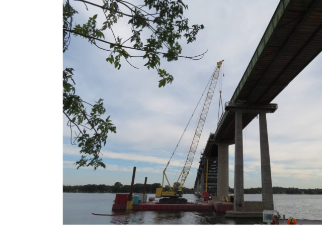 """Overview of the first girder removal of the second stage of Segment """"D"""""""