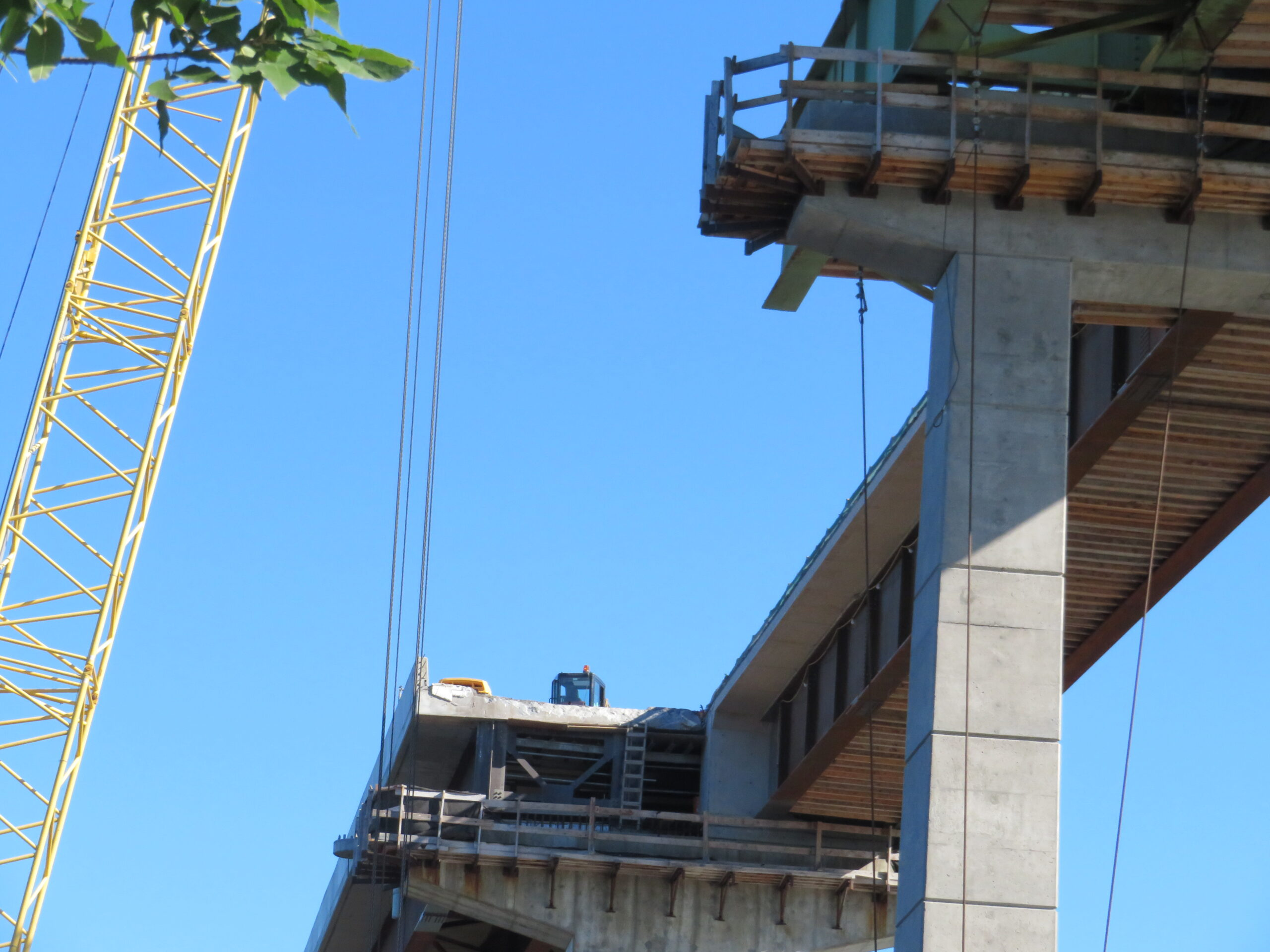 View from below of removed section of girder, piers 11-12
